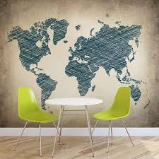 wall mural photo wallpaper xxl world map artistic draw 10010ws image is loading wall mural photo wallpaper xxl world map artistic