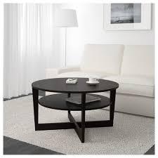 coffee tables beautiful vejmon coffee table black brown ikea cm