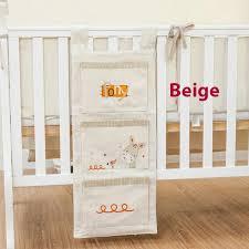 wish baby bed hanging storage bag cotton newborn crib organizer