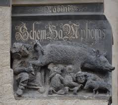 luther s luther s inspiration 1305 carving judensau pig on
