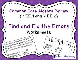 Rational Expression Worksheet Expressions Find And Fix The Errors Worksheet Simplifying