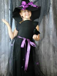 Girls Witch Halloween Costumes Upcycled Halloween Witch Costume Hat Kids
