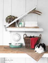 a ladder laundry room shelf for country woman magazinefunky junk