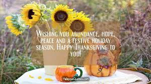 wishing you abundance peace and a festive season