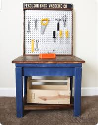 child bench plans diy projects kids play tool bench inspired by pb kids made
