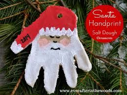 santa handprint salt dough ornaments easy diy to make with the