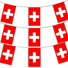 33ft 10 meters swiss flag bunting switzerland