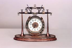 mechanical desk clock english victorian clock mechanical desk clock brass victorian