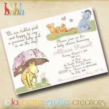 baby shower invitation templates classic winnie the pooh baby