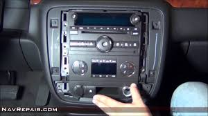 gmc chevrolet radio removal guide youtube