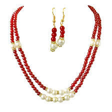 white shell pearl necklace images Shell pearl fashion jewellery for women buy online at best prices jpg