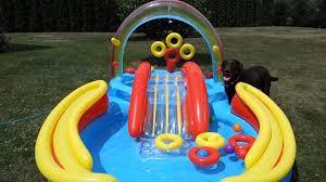 Intex Inflatable Pool Intex Rainbow Ring Inflatable Play Center Pool Setup Vlog Youtube