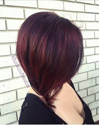 red brown long angled bobs rich violet red lob cherry red pravana wild orchid red vivid long