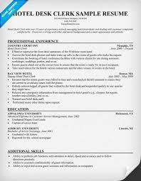 Sample Resume For Housekeeping Job In Hotel by Sample Resume For Hospital Unit Clerk