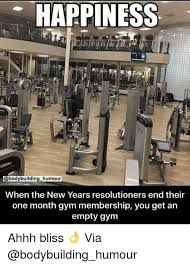 New Years Gym Meme - happiness humour when the new years resolutioners end their one