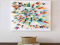 appealing desaign picture colorfull paper scrap ideas for canvas