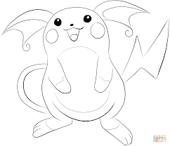 raichu coloring page free printable coloring pages