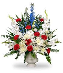 memorial flowers send thanks to your vet with a patriotic tribute