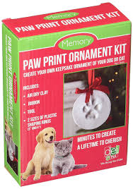 santa s lucky memory paw print ornament kit home