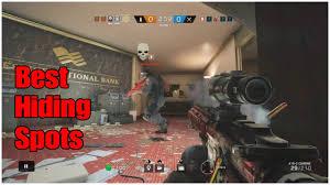 best hiding spots rainbow six siege youtube