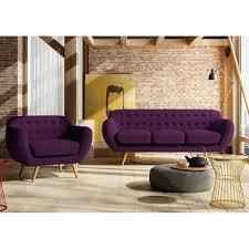 canapé convertible prune indigo canap 3p fauteuil prune achat vente canap sofa divan cad