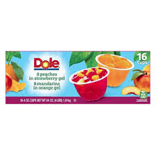 dole fruit bowls dole fruit in gel cups variety pack 4 3 oz cups 16 pk sam s