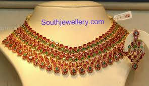 emerald ruby necklace images Rich ruby emerald necklace jewellery designs jpg