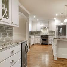 bianco antico granite with white cabinets bianco antico granite with gray subway tiles remodel pinterest