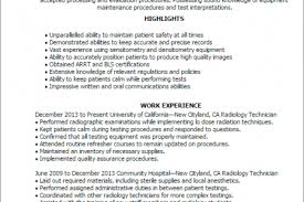 Radiologic Technologist Resume Sample by Ray Nuclear Stress Lab And Computed Tomography Ct Resume Yazhco