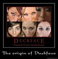 Meme Origin - the origin of duckface jpg