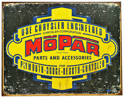 mopar jeep logo chrysler engineered mopar tin metal sign plymouth dodge jeep