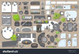 Office Chair Top View Clipart Icons Set Interior Top View Isolated Stock Vector 582659812