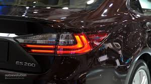 lexus is tail lights 2016 lexus es facelift is full of self esteem at auto shanghai