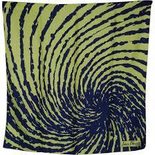 60 S Design Vintage 60s Jean Desses Paris Abstract Psychedelic Design Silk
