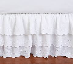 Crib Bed Skirt Measurements Eyelet Bed Skirt Pottery Barn