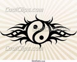 tribal yin yang illustrations
