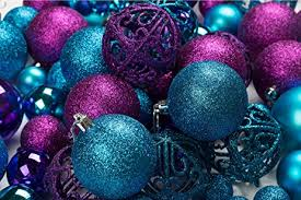 100 purple and blue ornament balls