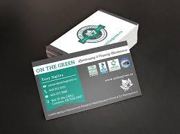 Landscape Business Cards Design Business Card Design For A Landscaping Company Digital Lion