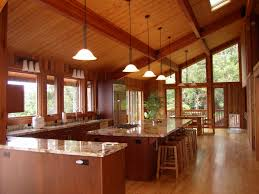 Log Home Interior Designs Decoration Ideas Simple And Neat Kitchen In Parquet Flooring