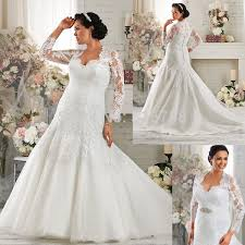 plus size fit and flare wedding dress fit and flare floor length sheer three quarter sleeves illusion