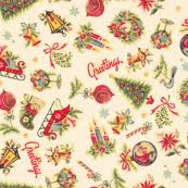 vintage christmas wrapping paper retro christmas fabric wallpaper gift wrap spoonflower