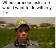 Potatoe Meme - a potato s life for me meme by gooch memedroid