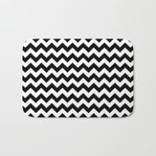 black white and pattern bath mats society6