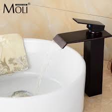 oil rubbed bronze bathroom faucet tall square black basin mixer