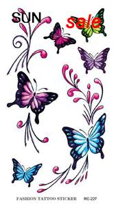 wholesale product colorful butterfly design sticker