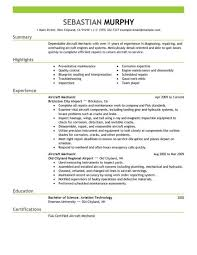aircraft mechanic resume sample jennywashere com