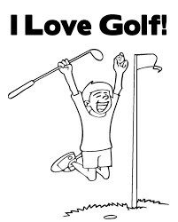 i love golf sports coloring pages sport coloring pages of