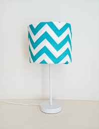 turquoise chevron lampshade and base kbs designs madeit com au