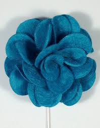 lapel flower teal lapel flower men s luxury gift accessory