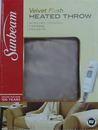 Faux Fur Electric Throw Amazon Com Sunbeam Velvet Plush Heated Throw Beige Cream Home